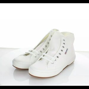 NWOT Superga 2795 Cotu white canvas high top